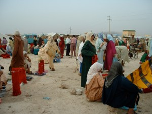 traveling to the market place (souk)
