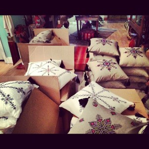 Anthropologie pillows Spring 2013