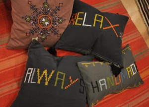 Embroidered Pillows 2013 smaller