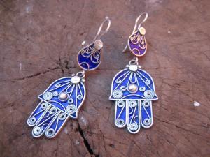 Khemissa Earrings Blue