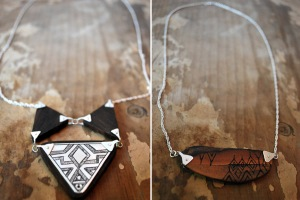 Wood Collection Necklaces Mushmina