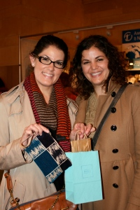 Two happy customers, sisters Abby and Amy