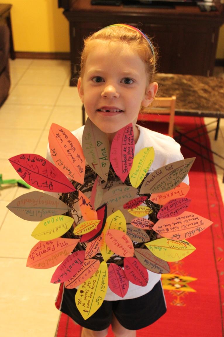 Homemade gratitude wreath