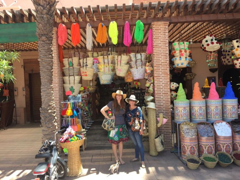 Heather and Tara in Marrakech