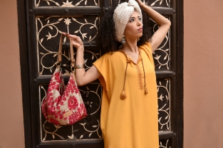 Asni Embroidered Tunic, sunshine